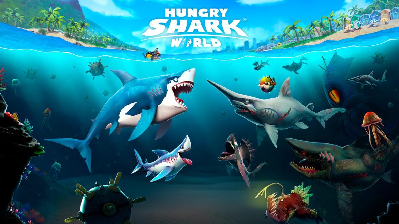 """สวมบทเป็นฉลามผู้หิวกระหายออกล่าเหยื่อ ไปกับเกม """"Hungry Shark World"""""""