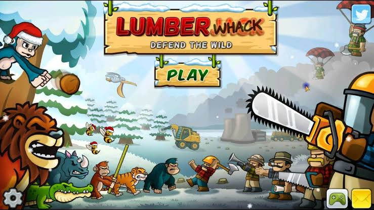เกมสวมบทบาทเป็นสัตว์ Lumberwhack : Defend the wild