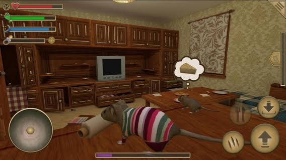 เกมสวมบทบาทเป็นสัตว์ Mouse simulator